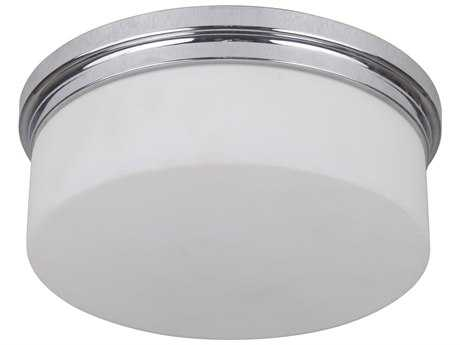 Craftmade Jeremiah Albany Chrome Two-Light 9.87'' Wide Fluorescent Flush Mount Ceiling Light