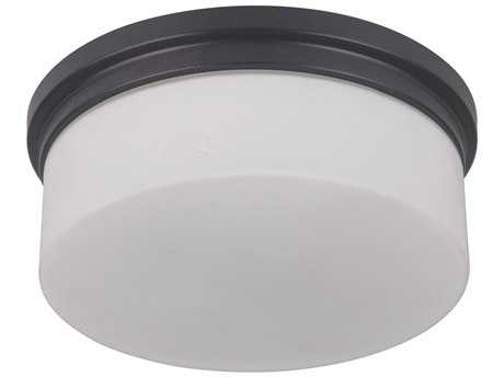 Craftmade Jeremiah Albany Oiled Bronze Two-Light 9.87'' Wide Fluorescent Flush Mount Ceiling Light