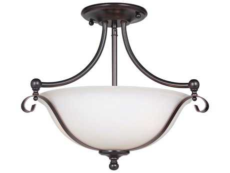 Craftmade Jeremiah Chelsea Oil Bronze Gilded Three-Light 17.25'' Wide Semi-Flush Mount Ceiling Light