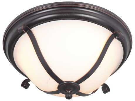 Craftmade Jeremiah Chelsea Oil Bronze Gilded Three-Light 16'' Wide Flush Mount Ceiling Light