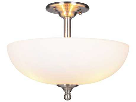 Craftmade Jeremiah Brighton Brushed Polished Nickel Three-Light 16'' Wide Semi-Flush Mount Ceiling Light