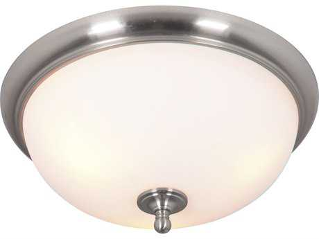 Craftmade Jeremiah Brighton Brushed Polished Nickel Three-Light 18.5'' Wide Flush Mount Ceiling Light