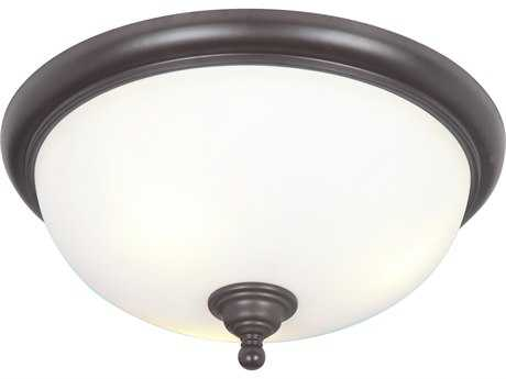 Craftmade Jeremiah Brighton Espresso Three-Light 18.5'' Wide Flush Mount Ceiling Light