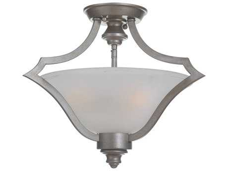 Craftmade Jeremiah Gabriella Athenian Obol Three-Light 17.91'' Wide Semi-Flush Mount Ceiling Light