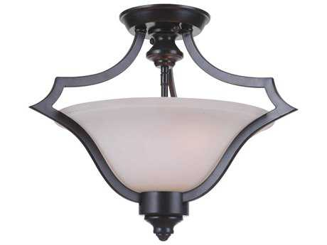 Craftmade Jeremiah Gabriella Matte Black Three-Light 17.91'' Wide Semi-Flush Mount Ceiling Light