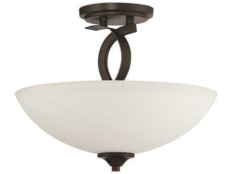 Craftmade Jeremiah Sierra French Bronze Three-Light 14'' Wide Semi-Flush Mount Ceiling Light