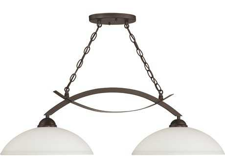 Craftmade Jeremiah Sierra French Bronze Two-Light 36'' Wide Island Ceiling Light