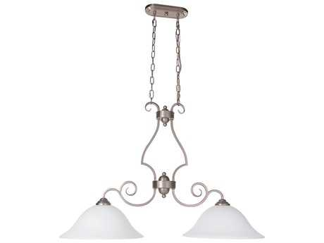 Craftmade Jeremiah Cecilia Brushed Satin Nickel Two-Light 36'' Wide Island Ceiling Light