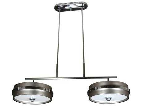 Craftmade Jeremiah 5th Avenue Six-Light Island Light in Brushed Satin Nickel/Chrome with Frosted Glass