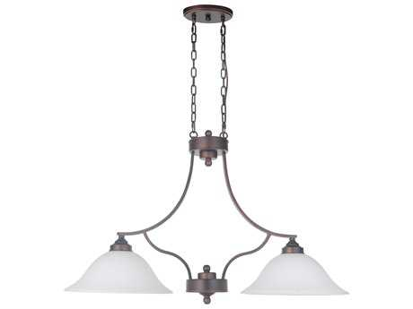 Craftmade Jeremiah Portia Metropolitan Bronze Two-Light 34'' Wide Island Ceiling Light