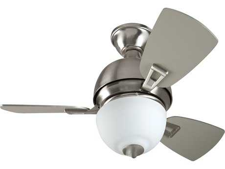 Craftmade Dane Stainless Steel Two-Light 30 Inch Wide Ceiling Fan with Brushed Nickel Blades