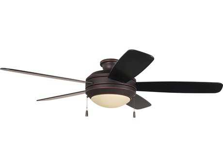 Craftmade Helios Oiled Bronze Gilded 52'' Blade Indoor Ceiling Fan with Two-Light Fluorescent Light Kit