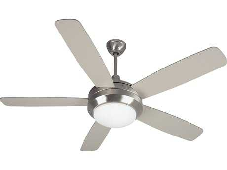Craftmade Helios Stainless Steel One-Light 52 Inch Wide Ceiling Fan with Brushed Nickel Blades