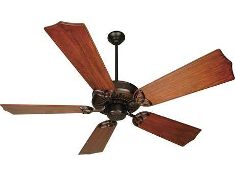 Craftmade American Tradition Oiled Bronze 56 Inch Wide Ceiling Fan with Custom Carved Blades in Traditional Mahogany