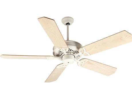 Craftmade American Tradition Antique White 52 Inch Wide Ceiling Fan with Custom Wood Blades in Unfinished Ash