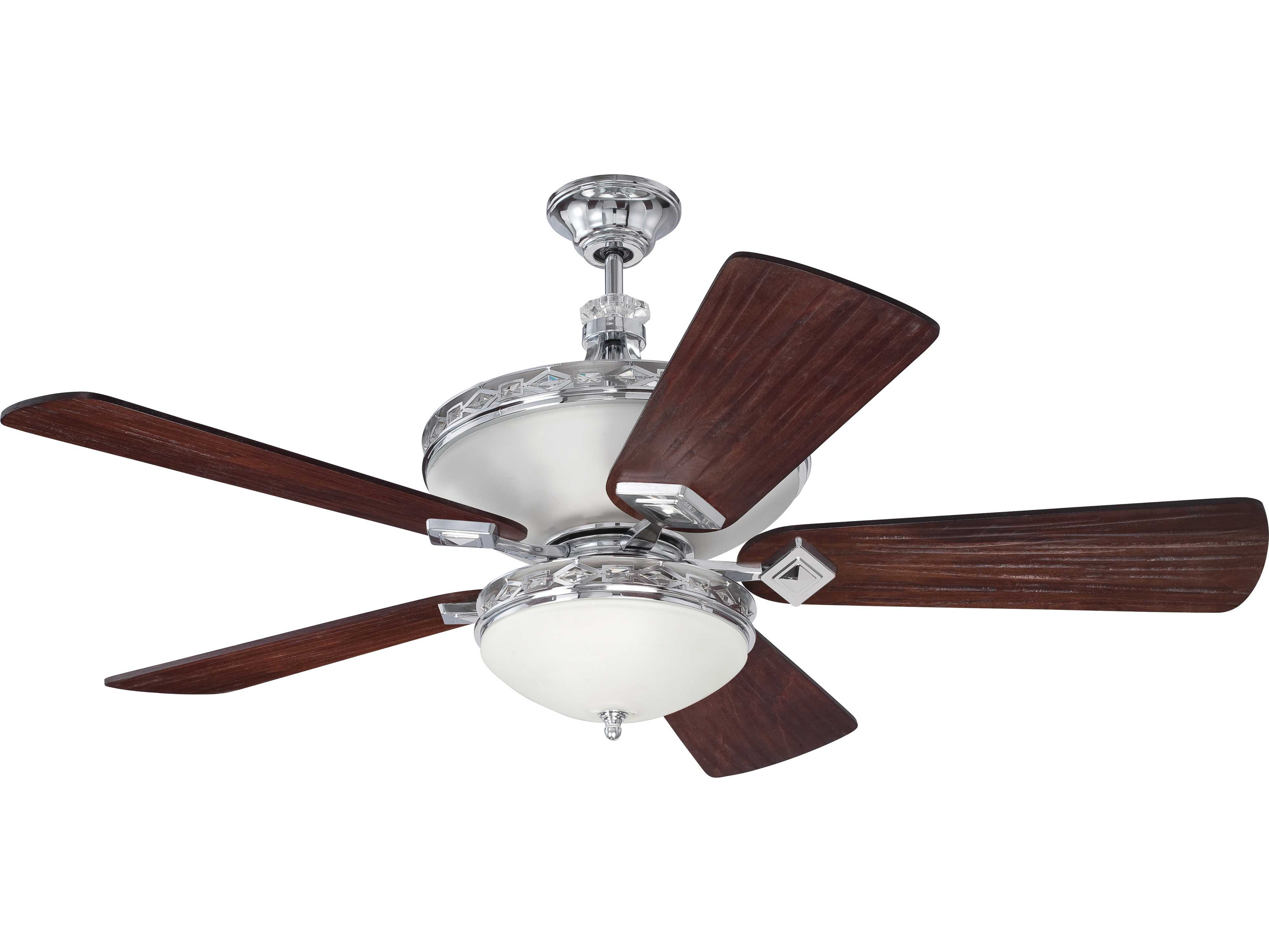 Craftmade Saratoga Chrome 52 Blade Indoor Ceiling Fan with Six
