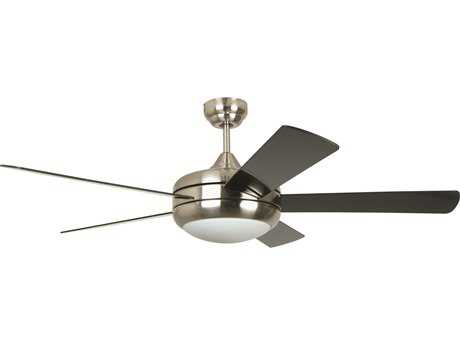 Craftmade Ellington Titan Satin Chrome 52'' Blade Indoor Ceiling Fan with Halogen Light Kit