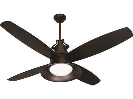 Craftmade Union Oiled Bronze Gilded Two-Light 52 Inch Wide Ceiling Fan with Oiled Bronze Blades