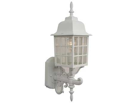 Craftmade Exteriors Grid Cage Matte White 6'' Wide Outdoor Wall Sconce
