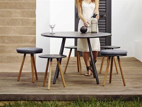 Cane Line Outdoor Area Aluminum Teak Dining Set