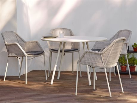 Cane Line Outdoor Core Aluminum Wicker Dining Set CNO11010AWSET12
