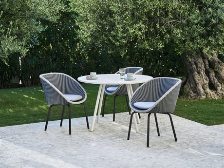 Cane Line Outdoor Core Aluminum Wicker Dining Set