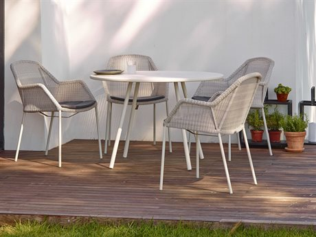 Cane Line Outdoor Core Aluminum Wicker Dining Set PatioLiving