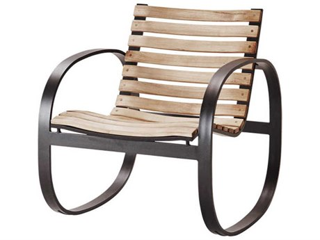 Cane Line Outdoor Parc Teak / Lava Grey Aluminum Wood Lounge Chair