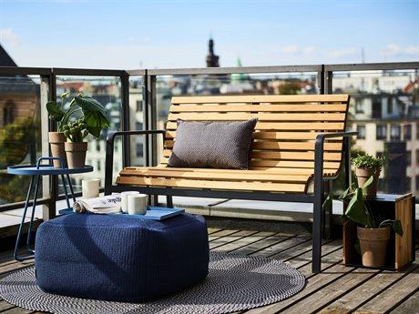 Cane Line Outdoor Parc Aluminum Teak Lounge Set PatioLiving