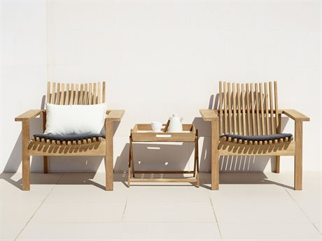 Cane Line Outdoor Amaze Teak Cushion Lounge Set