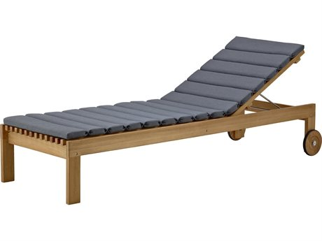 Cane Line Outdoor Amaze Teak / Gray Cushion Chaise Lounge