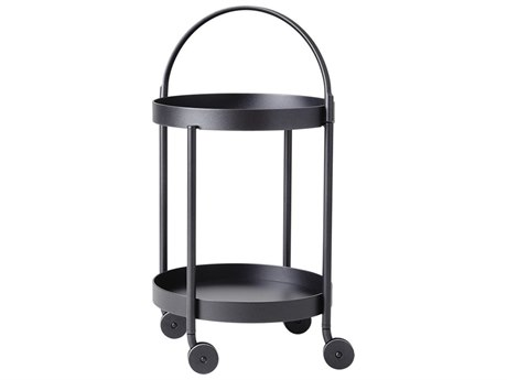 Cane Line Outdoor Roll Aluminum 17''Wide Round Trolley