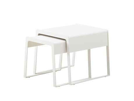 Cane Line Outdoor Chill-out White Aluminum Square End Table
