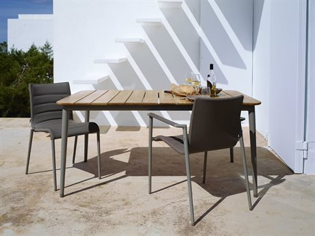 Cane Line Outdoor Core Aluminum Teak Dining Set