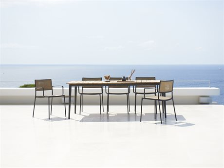 Cane Line Outdoor Core Aluminum Teak Dining Set PatioLiving