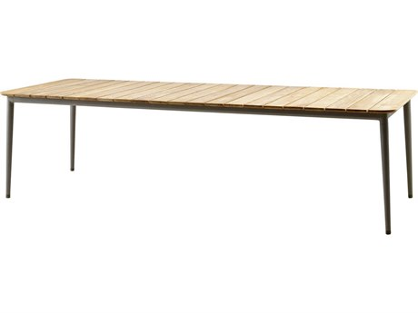 Cane Line Outdoor Core Taupe 107'' Wide Aluminum Rectangular Dining Table