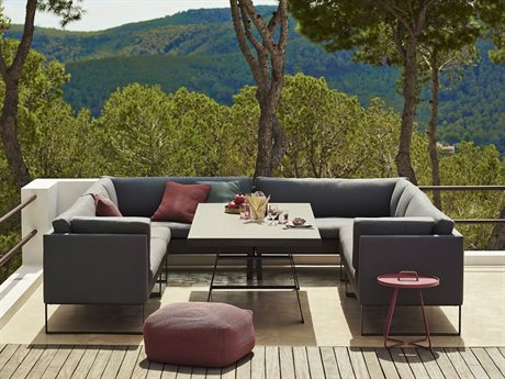 Cane Line Outdoor Flex Aluminum Cushion Lounge Set PatioLiving