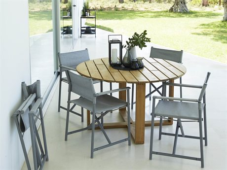 Cane Line Outdoor Endless Aluminum Teak Dining Set PatioLiving