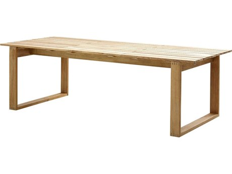 Cane Line Outdoor Endless Teak 94'' Wide Rectangular Dining Table