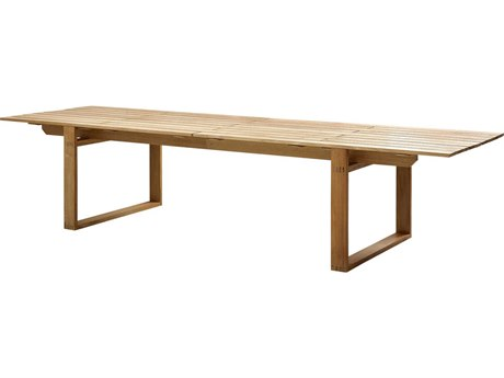 Cane Line Outdoor Endless Teak 130'' Wide Rectangular Dining Table