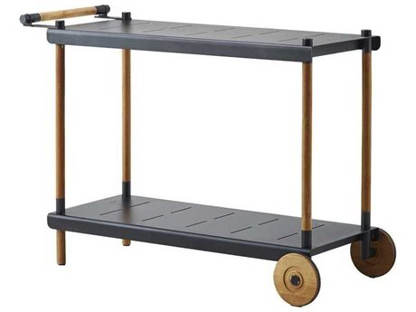Cane Line Outdoor Teak / Lava Grey Serving Cart