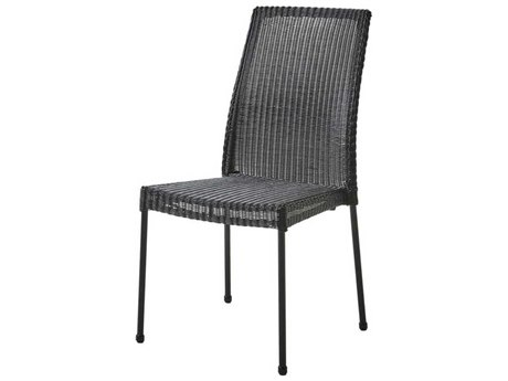 Cane Line Outdoor Newport Black Aluminum Wicker Dining Chair