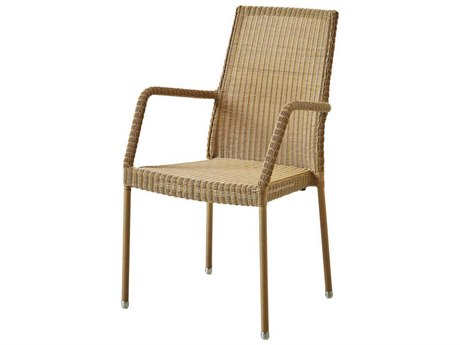 Cane Line Outdoor Newman Natural Aluminum Wicker Dining Chair