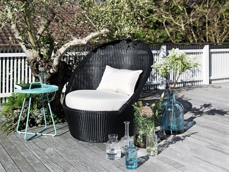Cane Line Outdoor Kingston Wicker Cushion Lounge Set PatioLiving