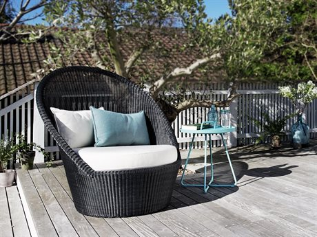Cane Line Outdoor Kingston Wicker Cushion Lounge Set