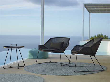 Cane Line Outdoor Breeze Aluminum Wicker Cushion Lounge Set PatioLiving