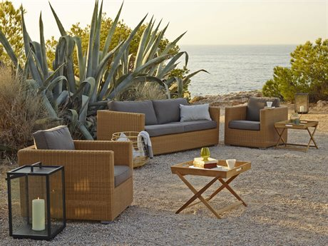 Cane Line Outdoor Chester Teak Cushion Lounge Set
