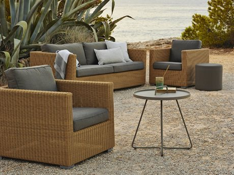 Cane Line Outdoor Chester Wicker Cushion Lounge Set PatioLiving