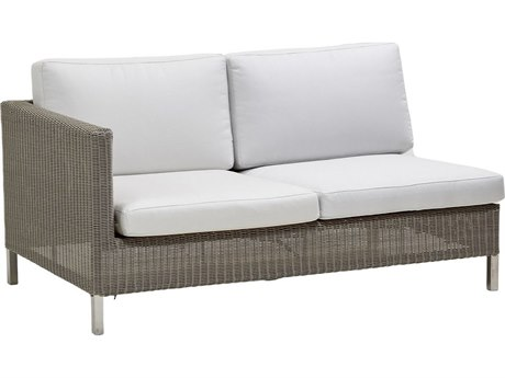 Cane Line Outdoor Connect Taupe Wicker Loveseat PatioLiving