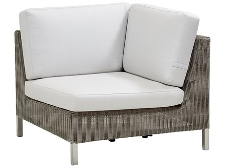 Cane Line Outdoor Connect Taupe Wicker Lounge Chair PatioLiving
